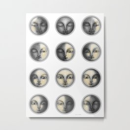 moon phases and romanticism Metal Print