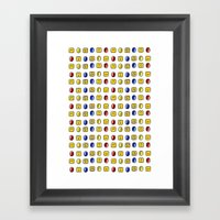 Coins, Boxes and Power ups, Oh my! Framed Art Print