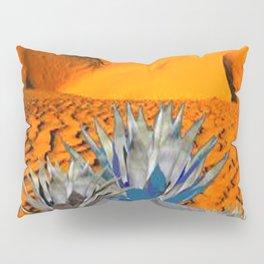 BLUE AGAVE DESERT LANDSCAPE CACTUS ART Pillow Sham