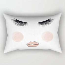 Lashes And Lips Rectangular Pillow