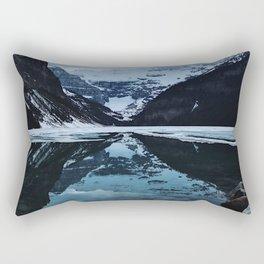 Lake Louise at sunset Rectangular Pillow