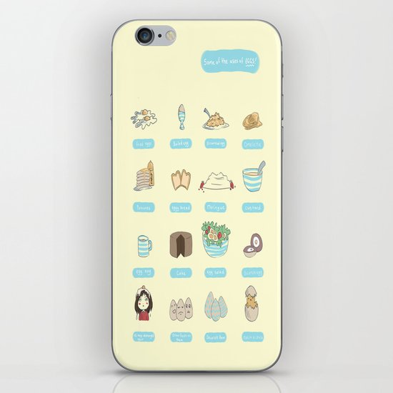 Some of the uses of eggs iPhone & iPod Skin