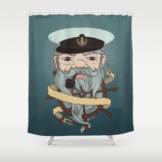 Sea wolf Shower Curtain
