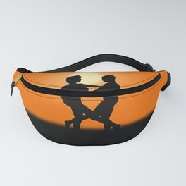 Sunset Dancing Lovers Fanny Pack