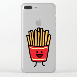 Happy French Fries potato frites fried junk food Clear iPhone Case