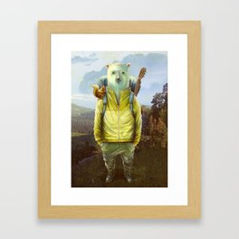 bear-tourist Framed Art Print