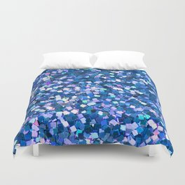Dazzling Blue Sequences (Color) Duvet Cover