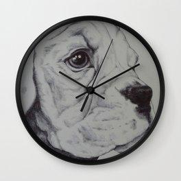 maisy - biro on paper Wall Clock