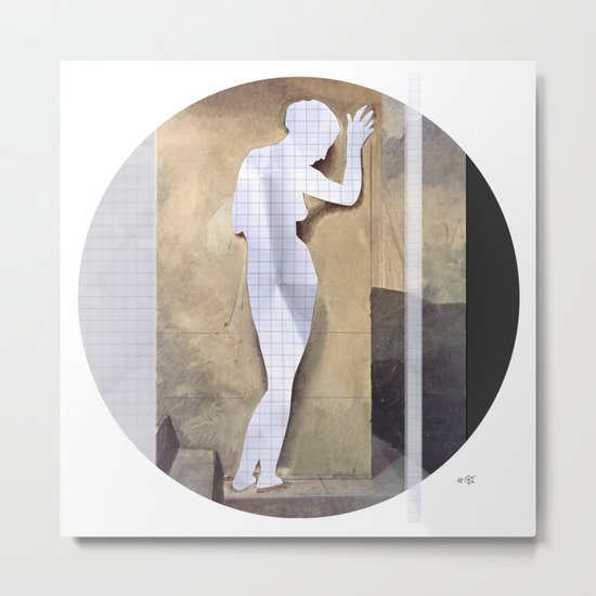 Hayez Paper Woman Collage Metal Print