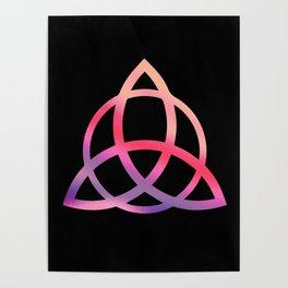 Purple Tie Dye Triquetra Poster