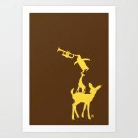 Animal Brassband Art Print