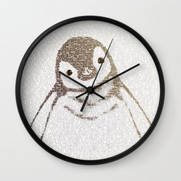 The Little Intellectual Penguin Wall Clock