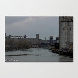 Grain Elevators along Buffalo River  Canvas Print