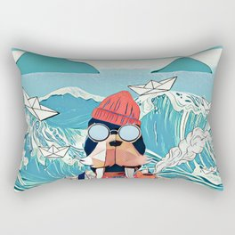 Walrus and the paper boats Rectangular Pillow