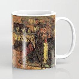 """Paul Gauguin - Blue Roofs of Rouen """"Les toits bleus, Rouen"""" (1884) Coffee Mug"""