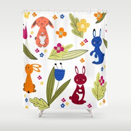 Rabbits pattern 1 Shower Curtain