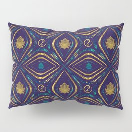Lotus and OM symbol Luxury Pattern Pillow Sham