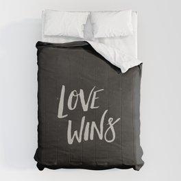 LOVE WINS Comforters