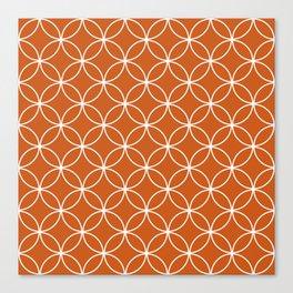 Crossing Circles - Yam Canvas Print