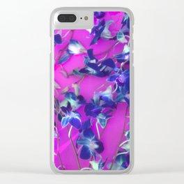 Blue Vine Clear iPhone Case