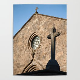 Church in Azores islands Poster