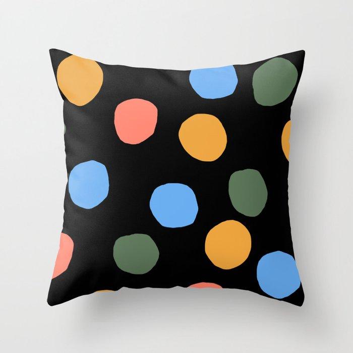 Bunte Punkte 002 / A Mid-Century Modern Pattern Throw Pillow
