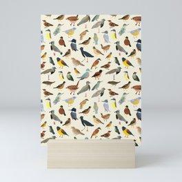 Great collection of birds illustrations  Mini Art Print