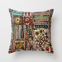 africa Throw Pillows featuring Africa by Helene Michau