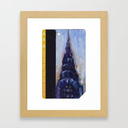 Subway Card Chrysler Building No. 9 Framed Art Print