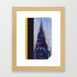 Subway Card Chrysler Building No. 9 Framed Art Print