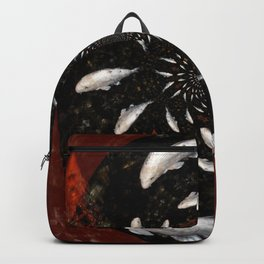 White Koi Collage Backpack