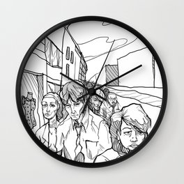 People in Middling City Wall Clock