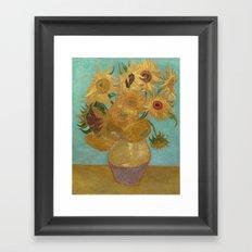 Vincent Van Gogh - Sunflowers Framed Art Print