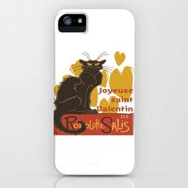 Joyeuse saint Valentin Le Chat Noir Parody iPhone Case