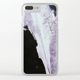 Slipping Away: an abstract mixed-media piece in black and white by Alyssa Hamilton Art Clear iPhone Case