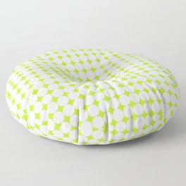Abstract green and white pattern 01 Floor Pillow