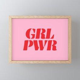 Girl Power GRL PWR Framed Mini Art Print