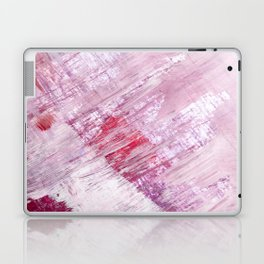 Magnetic [10]: a minimal abstract piece in gold, pink, red, white and purple Laptop & iPad Skin