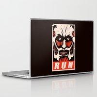 run Laptop & iPad Skins featuring Run by le.duc