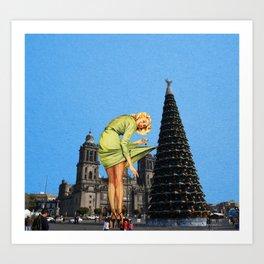 Giant Christmas Tree Art Print