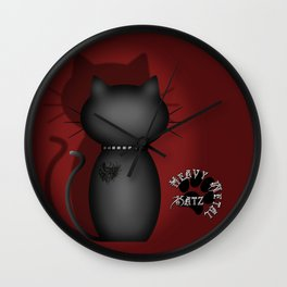 Heavy Metal Katz Wall Clock