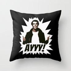 HAPPY DAYS  |  FONZIE  |  AYYY! Throw Pillow