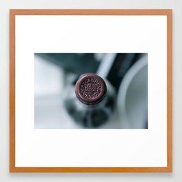 Wine Red Framed Art Print