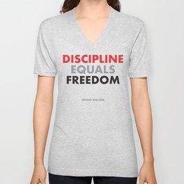 """""""Discipline Equals Freedom"""" Jocko Willink Unisex V-Neck"""