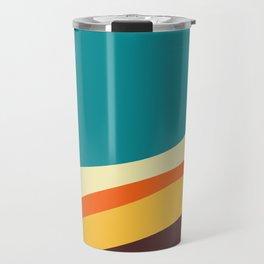 Flat abstract design backgrounds  Travel Mug