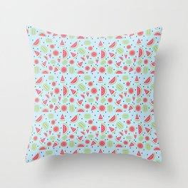 Seedless Watermelon Throw Pillow