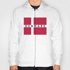 Denmark country flag name text Hoody