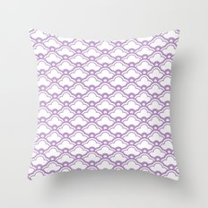 matsukata in african violet Throw Pillow