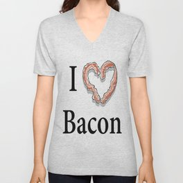 I -bacon- Bacon Unisex V-Neck