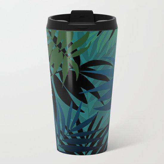 T. Palm leaves Metal Travel Mug